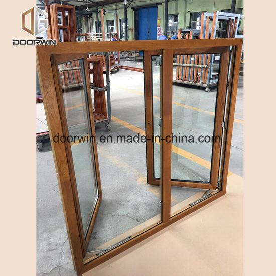 push out windows aluclad oak wood french push out window china window three
