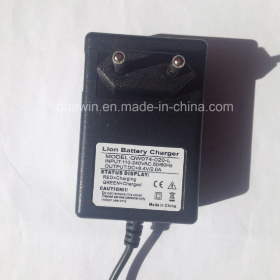 8.4V 2A Lithium Battery Charger with DC Male Connector pictures & photos