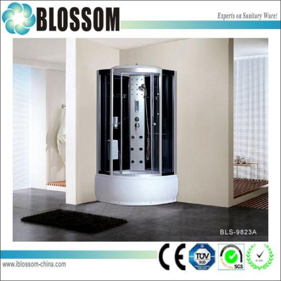Massage Complete Shower Room Steam Shower Cabin Modern Shower Enclosure (BLS-9823A)