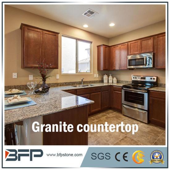 Customized Natural Polished Granite Stone Kitchen Countertop