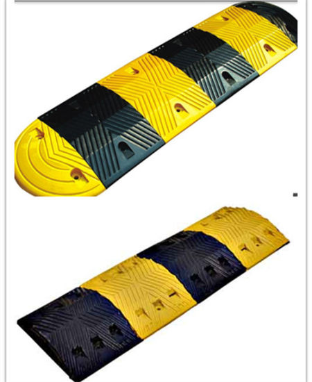 Reflective Driveway Safety Industrial Rubber Speed Bump pictures & photos