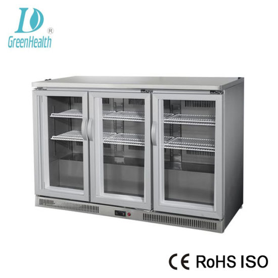 China Factory Price Glass Door Stainless Steel Beer Under Bar Cooler