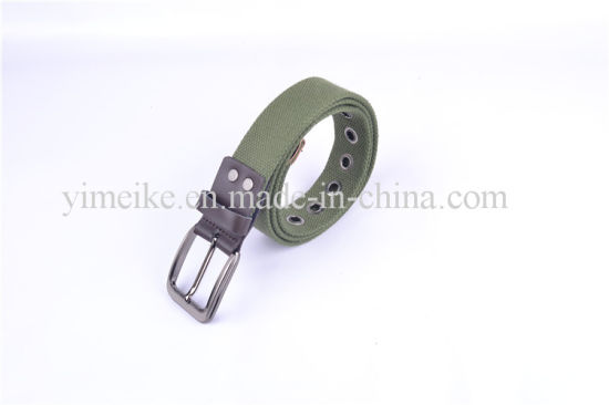 New Design Polyester Casual Man Laser Alloy Buckle Cotton Belt pictures & photos
