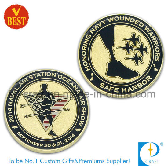 OEM Factory Direct Sale Metal Enamel Military / Army / Air Force Challenge Souvenir Gift Coin (KD-0768) pictures & photos