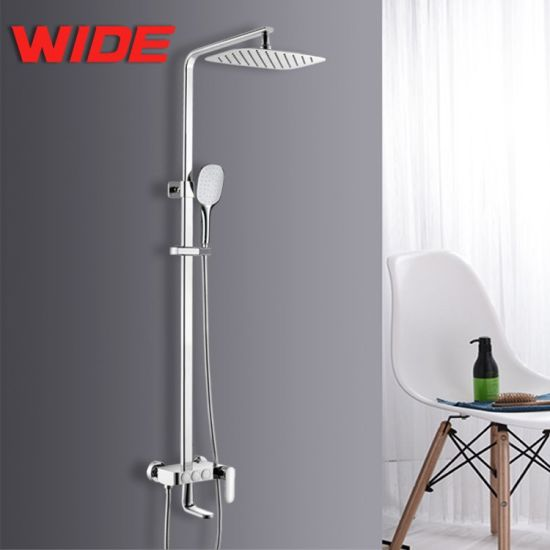China European Thermostatic Shower Faucet Brass Bath Shower Mixer ...