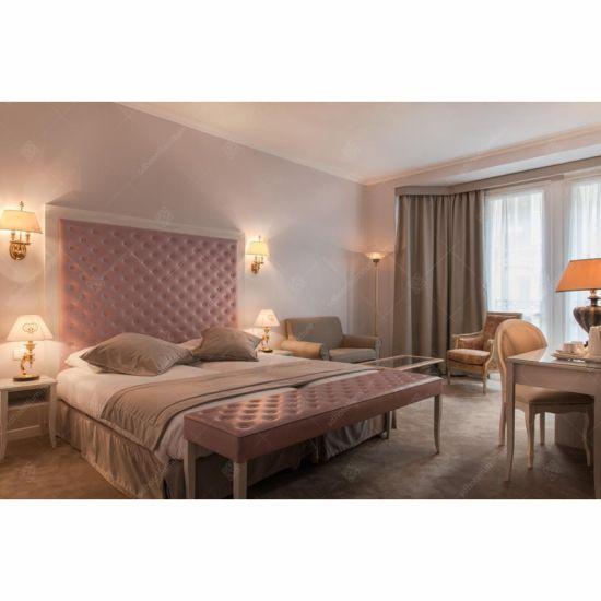 Foshan Hotel Furniture Manufacturer Supply Modern Design 5 Star Hilton  Hotel Wooden Bedroom Furniture Set