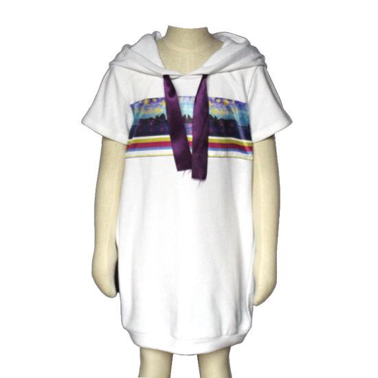 72f1cff8b2 School Girl Lace up Short Sleeve Girls Hooded Sweatshirt Dress pictures    photos