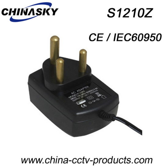 12VDC 1AMP South African Type Regulated CCTV Power Adapter (S1210Z)
