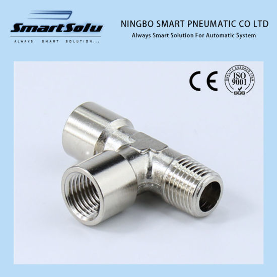 "Nickel Plated Brass Equal Tee 1//4/""  Male T-connector Pipe Fitting"