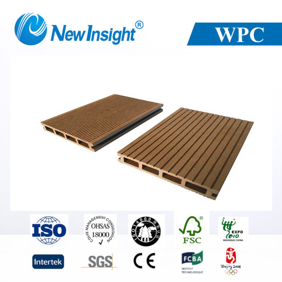 Easy Cleaning Anti-Crack Hollow WPC Outdoor Decking Floor (LHMA057)