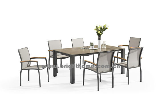 New Design Outdoor Textilene Dining Set pictures & photos
