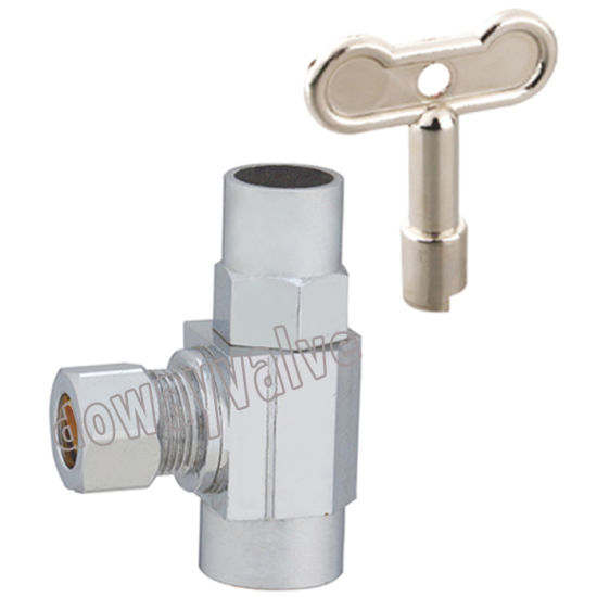 Brass Multi Turn Angle Stop Valve with Loose Key pictures & photos