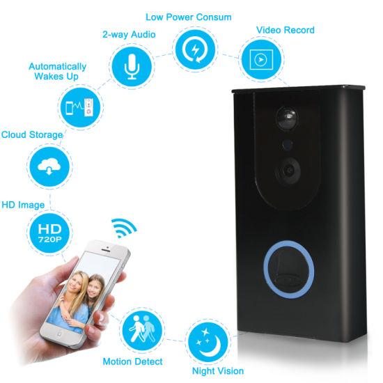 160 Degree Wireless Video Doorbell PIR Motion Detection IP65 WiFi Video Door Phone