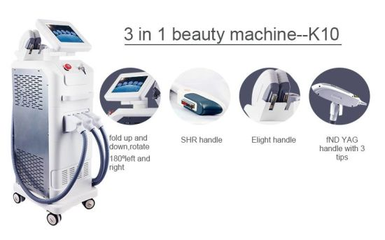 E-Light IPL Hair Wrinkle Tattoo Removal 3 in 1 Beauty Machine pictures & photos