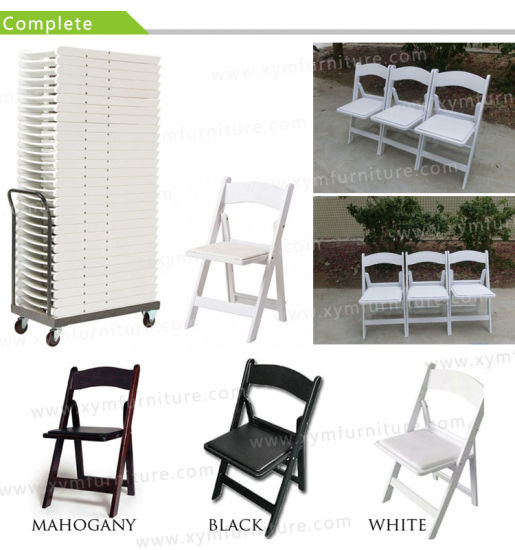 Black White Plastic Folding Resin Wedding Party Wimbledon Chair (XYM-W012) pictures & photos