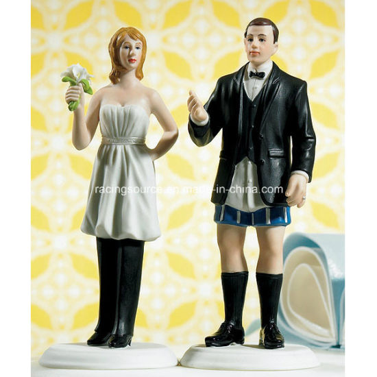 China Comical Bride In Charge Funny Wedding Cake Topper Figurine China Wedding Cake Topper And Resin Cake Topper Price