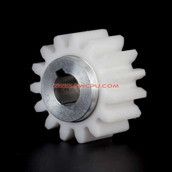 China Own Design Nylon Spur Tooth Gear with Brass Bearing - China