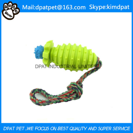 Pet Toy Pet TPR Cotton Rope Toy Grenade Dog Face