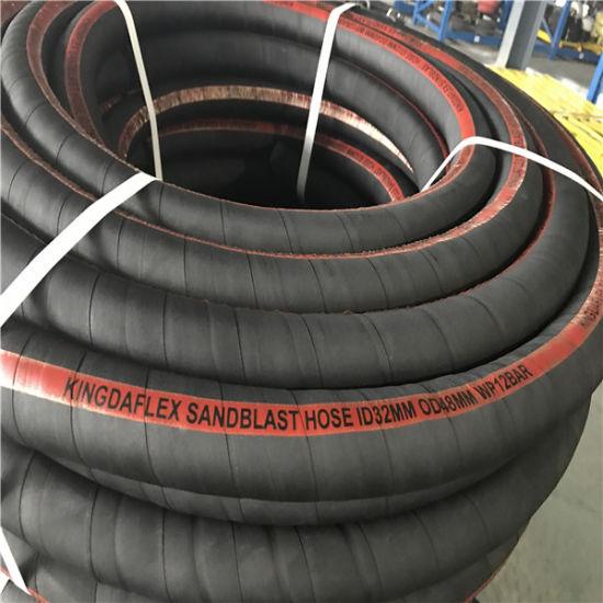 1 1/2 Inch Flexible Abrasion Resistant Sandblasting Rubber Hoses