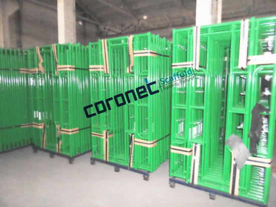 ANSI Certified Powder Coated Ladder Frame Scaffold with Drop Lock (CSLFDL) pictures & photos
