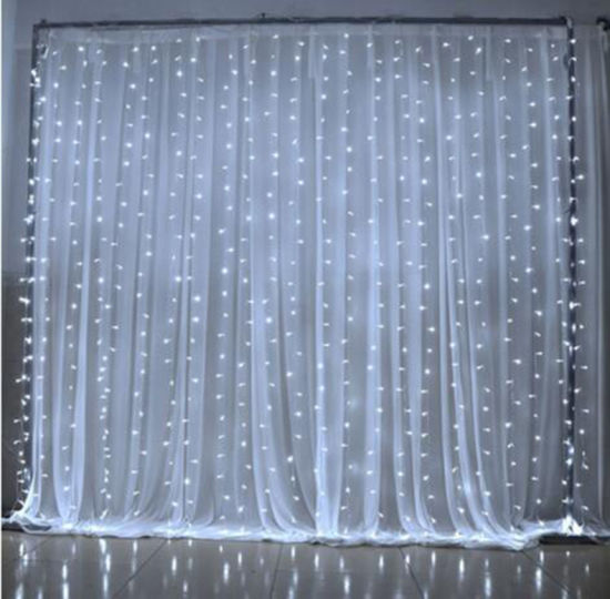 Xmas Outdoor Lights 300 Led Curtain Christmas String For Indoor Lawn Garden