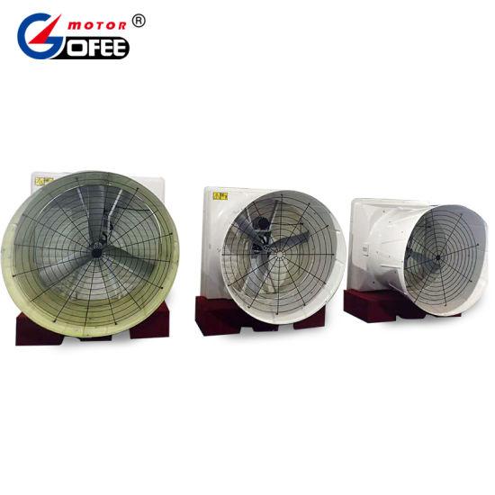 36′′ Wall Mounted Bess Lab Certified SMC Fiberglass Exhaust Cone Fan