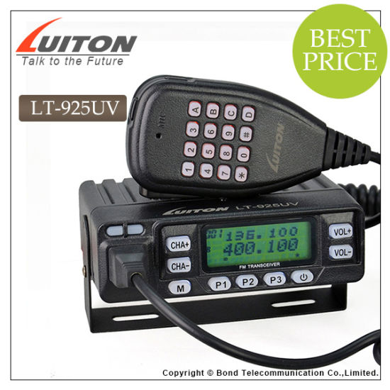 Small Size 25watts Mobile Radio Lt-925UV Car Shaped Radio