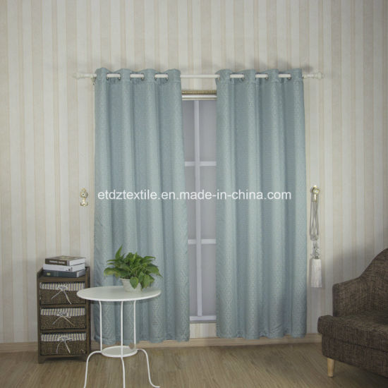 2018 Water Blue Color Modern Design Window Curtain Fabric pictures & photos