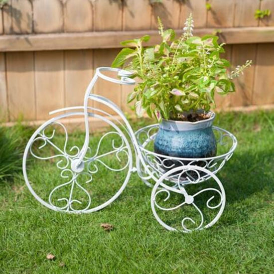 Hot Metal Art Bicycle Flower Pot Holder Pictures Photos