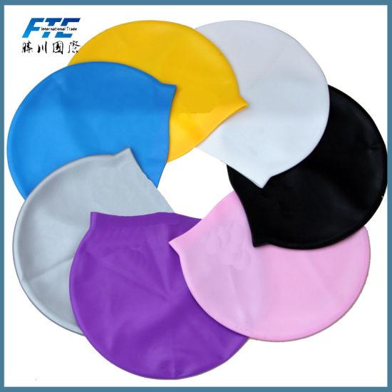 Custom Printing Logo Silicone Swimming Cap