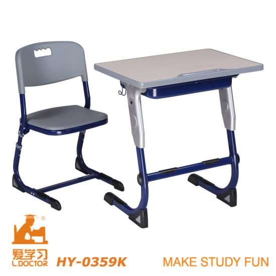 Iron Frame University School Furniture (Adjustable aluminuim) pictures & photos