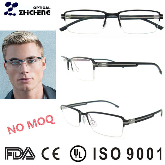 China Italian Design Halfrim German Aluminum Eyeglasses Frame for ...