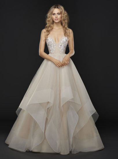 c6d16ae8a361 ... Train Wedding Dresses. Source · Honeybee Embellished Tulle Bridal Ball  Gown Sweetheart Neckline with Strap Caviar Fl Accent Low Keyhole Back