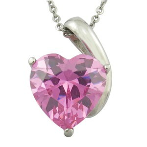 Large Clothes Heart Shape CZ Pendant for Women