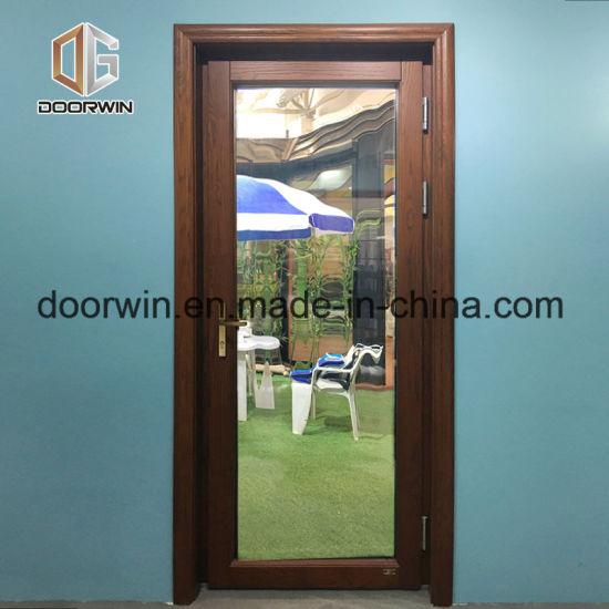 Pine Oak Wood Entrance Door With Glass