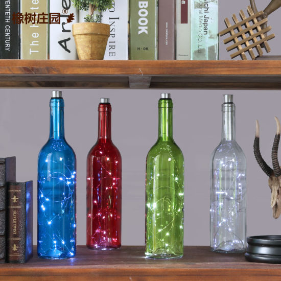 Colorful Glass Wine Bottle for Home Decoration (Customized Color acceptale)