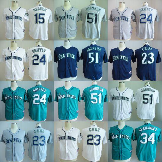 more photos 12dfa 987a3 China Customized American League Seattle Mariners Cruz ...
