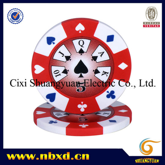 14G 3-Tone Clay Double Suited Customize Decal Poker Chip (SY-E17) pictures & photos