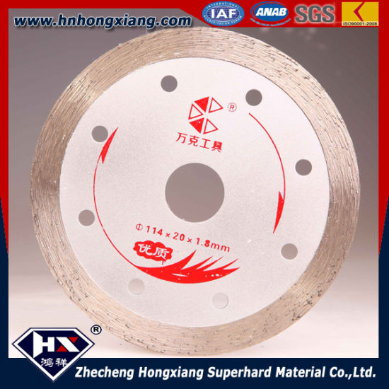 350mm Continuous Rim Diamond Blade for Hard Stone pictures & photos