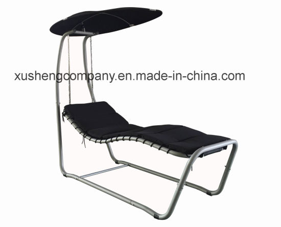 China Steel Tube Frame Swing Chairs Outdoor Hotal Garden Swing