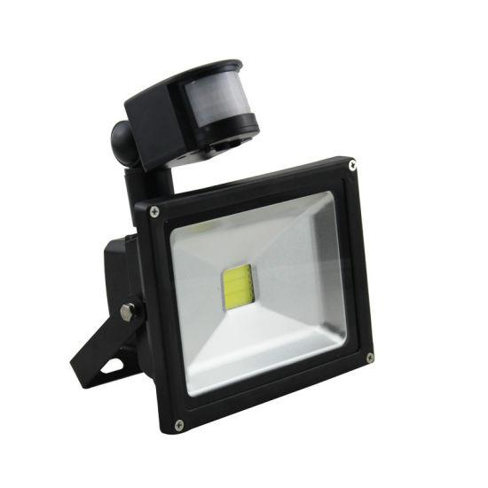 New Hot Sell Motion Sensor PIR Sensor IP65 LED Floodlight 30W with 3 Years Warranty