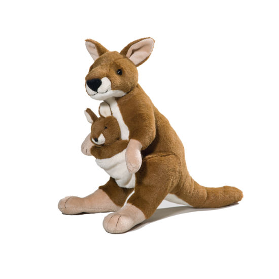 China Plush Stuffed Animal Toy Australia Kangaroo Toy With Baby