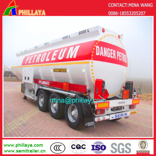 3 Axles 42000litres Truck Fuel Oil Tank Semi Trailer pictures & photos