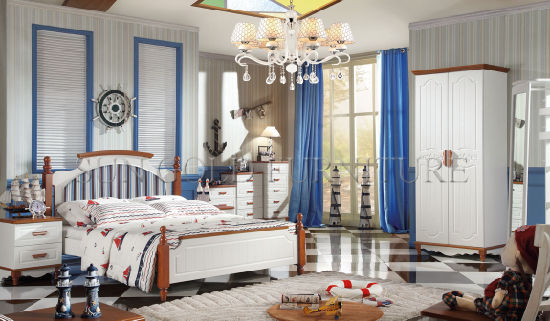 Italian Home Melamine Kids Bed Bedroom Furniture Set (SZ-BT9908)