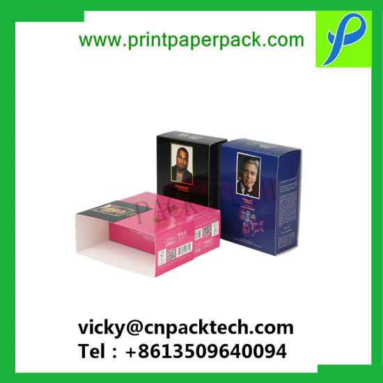 Custom Color Printed Food Grade Folding Craft Cosmetic Perfume Paper Gift Box, Essential Oil Packaging Display Box, Cigarette Wine Bottle Storage Packing Box pictures & photos