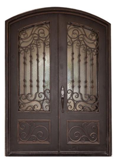 China Stunning Hand Crafted Custom Steel Iron Entry Door China