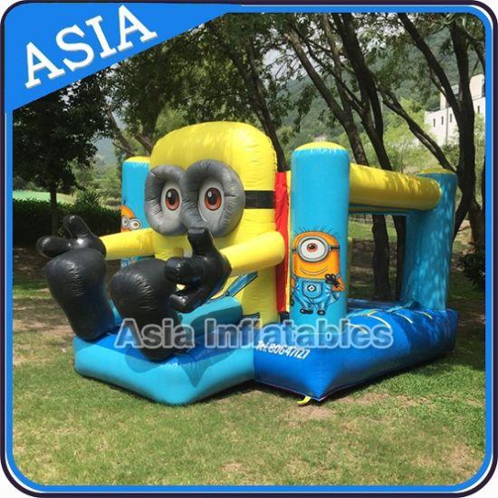 Backyard Inflatable Minion Cartoon Bouncy Castle With Slide