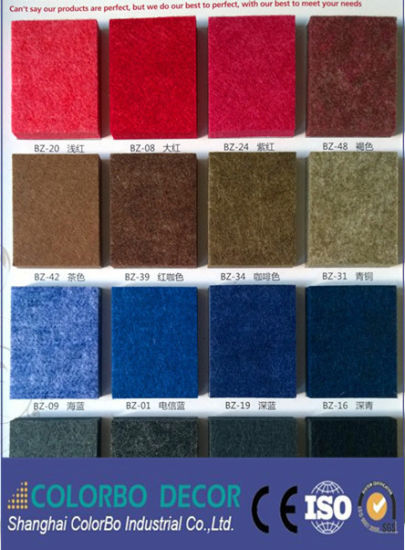 Decoration Material Polyester Fiber Interior Wall Acoustic Panel