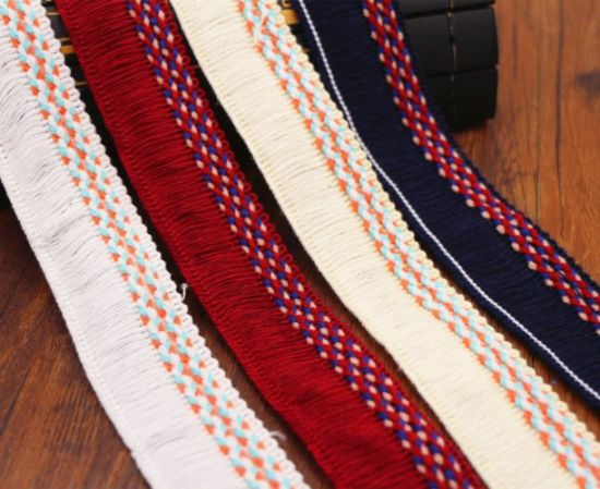 High Quality 3cm Double Thread Fringe Trim for Decoration