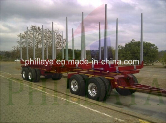 Skeleton Type Timber Transporting Logging Semi Trailer pictures & photos